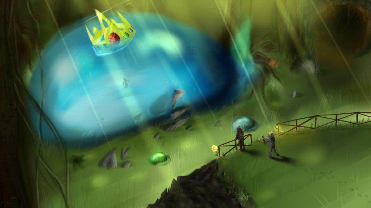 King Slime By Crazyghostle Terraria Art Terrarium Terraria