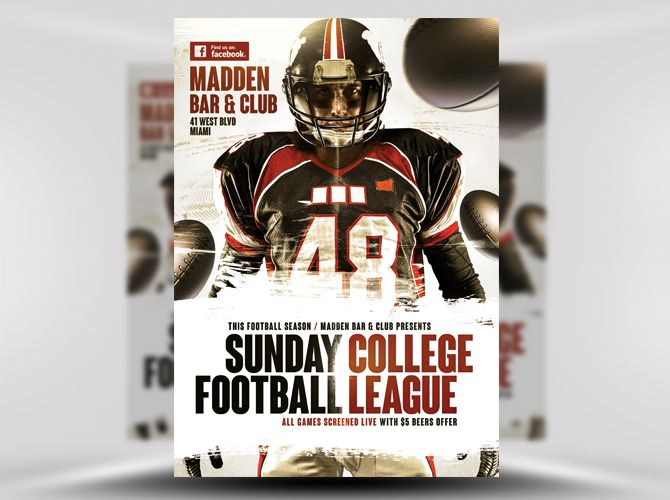 American Football Flyer Template   Flyer Templates