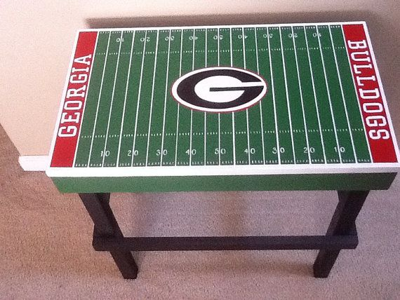 For Jimu0027s Man Cave Custom Man Cave Sports Team End Table With By  APArtworksandDesign, $85.00