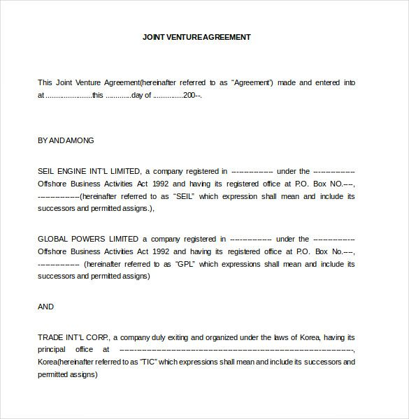 Joint Venture Agreement - Create a Joint Venture Agreemnent Legal