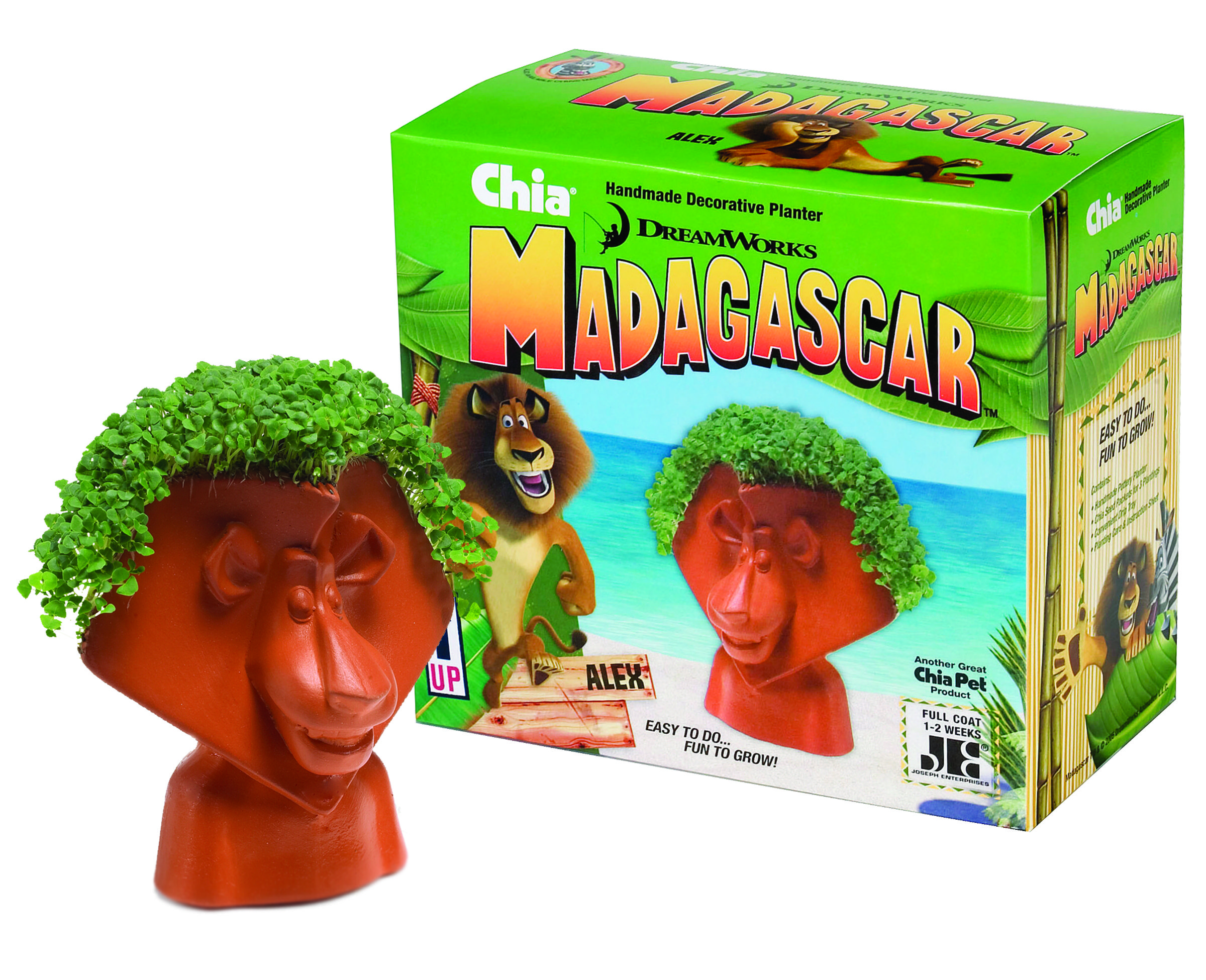 Chia Alex From The Movie Madagascar Chia Pet Novelty Gifts Pets