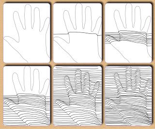 Mrs. Fine - glimpses from my arts education: Op Art - 5.del: hand emphasizes