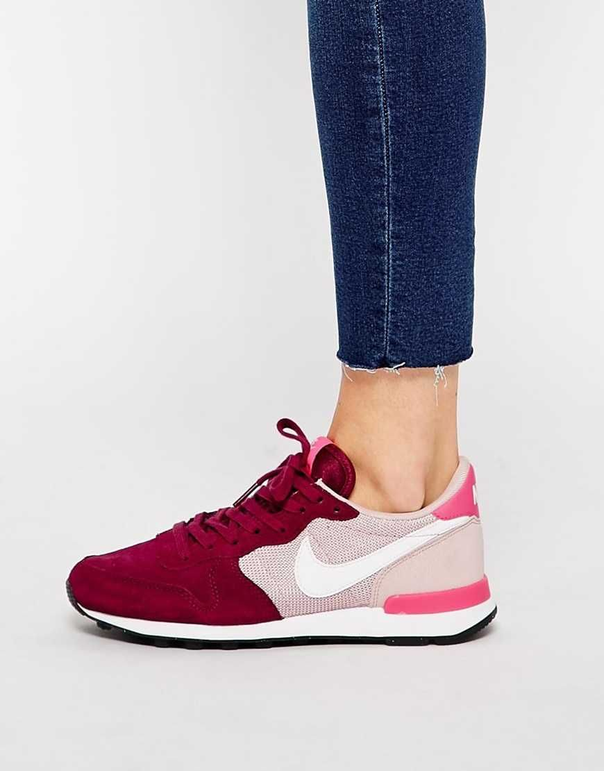nike - internationalist - baskets - rose et bordeaux