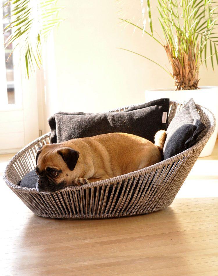 siro twist dog bed. unusual dog bed design - enchanting shape with