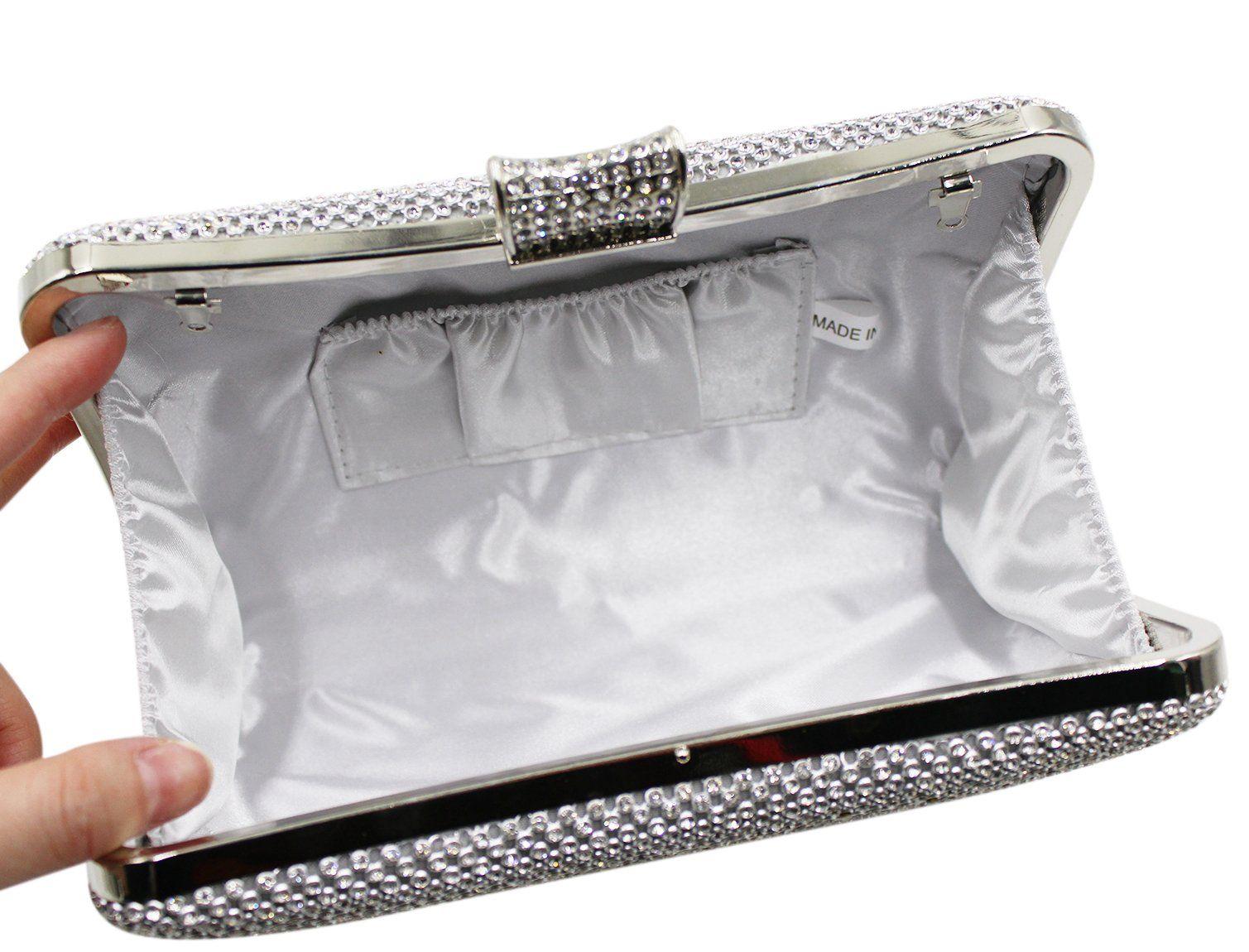 Bags us Women Crystal Evening Bags Rhinestone Silver Gold Clutch Purse Handbag Chain Shoulder for Wedding Bridal Party Prom, #Ad #Silver, #Rhinestone, #Clutch, #Gold