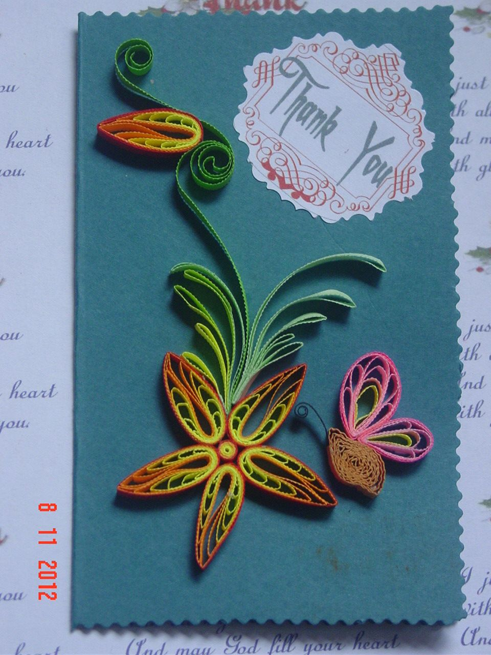 faith's quilling  quills quillings quilled flowers