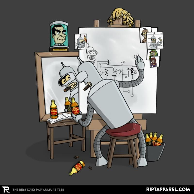 Bender Self Portrait Futurama T Shirt Futurama Pinterest