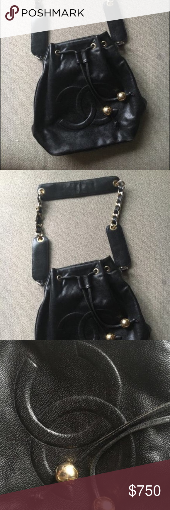 Auth Chanel bucket bag Vintage Chanel bucket bag in good preowned condition.  The hologram has b4ccb3ecee6c8