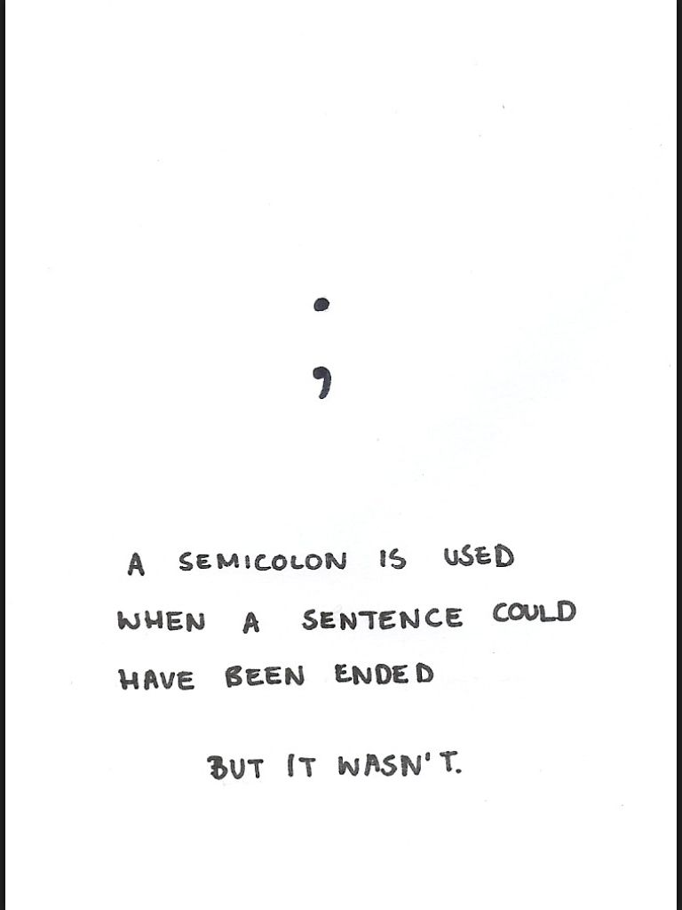"Semicolon Quote This With The Words ""i Have Never Met Anyone Who Was Not Important"