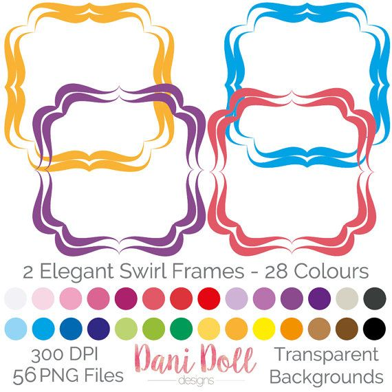 56 elegant swirl frames clipart elements coloured png 300 dpi small rh pinterest co uk clipart for scrapbooking free cute clipart for scrapbooking