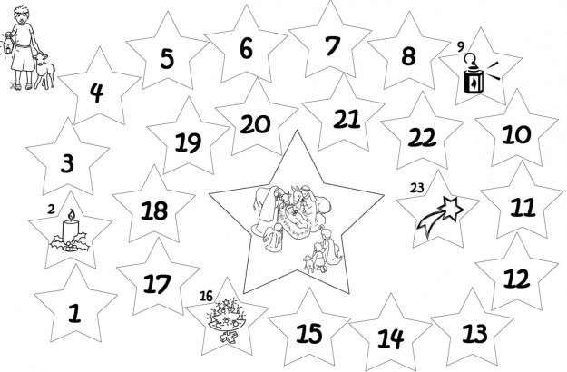 Calendario Dellavvento Da Stampare Per Bambini.Calendario Dell Avvento Da Stampare Calendario Dell