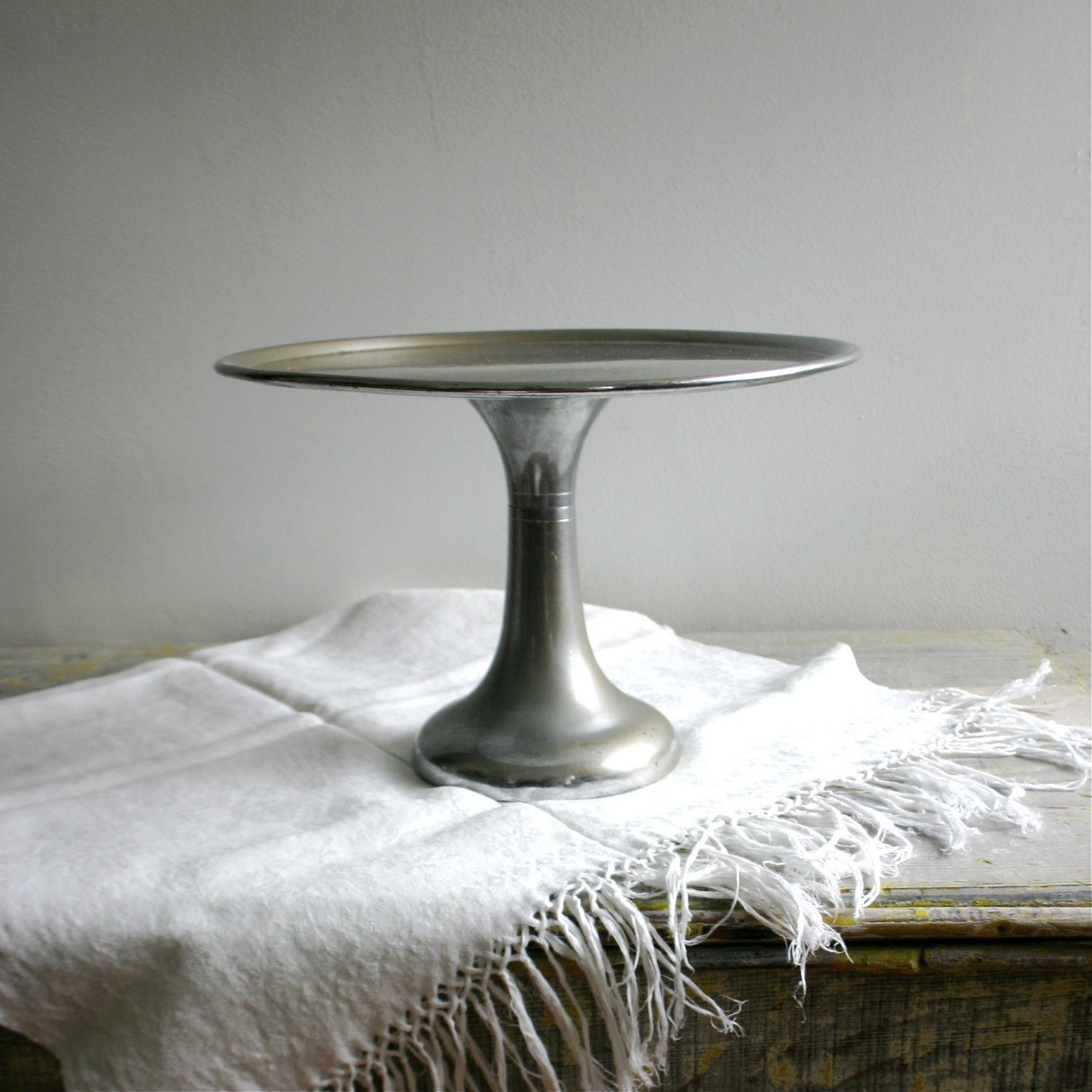 Vintage Industrial New York Bakery Cake Stand