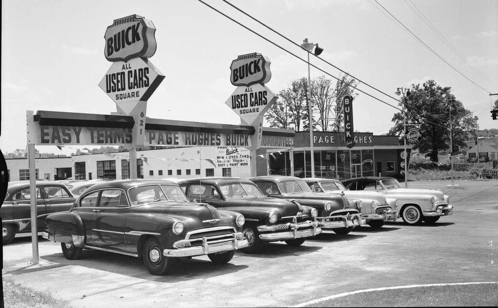 Page Hughes Buick, Falls Church, VA 1950s Used car lots