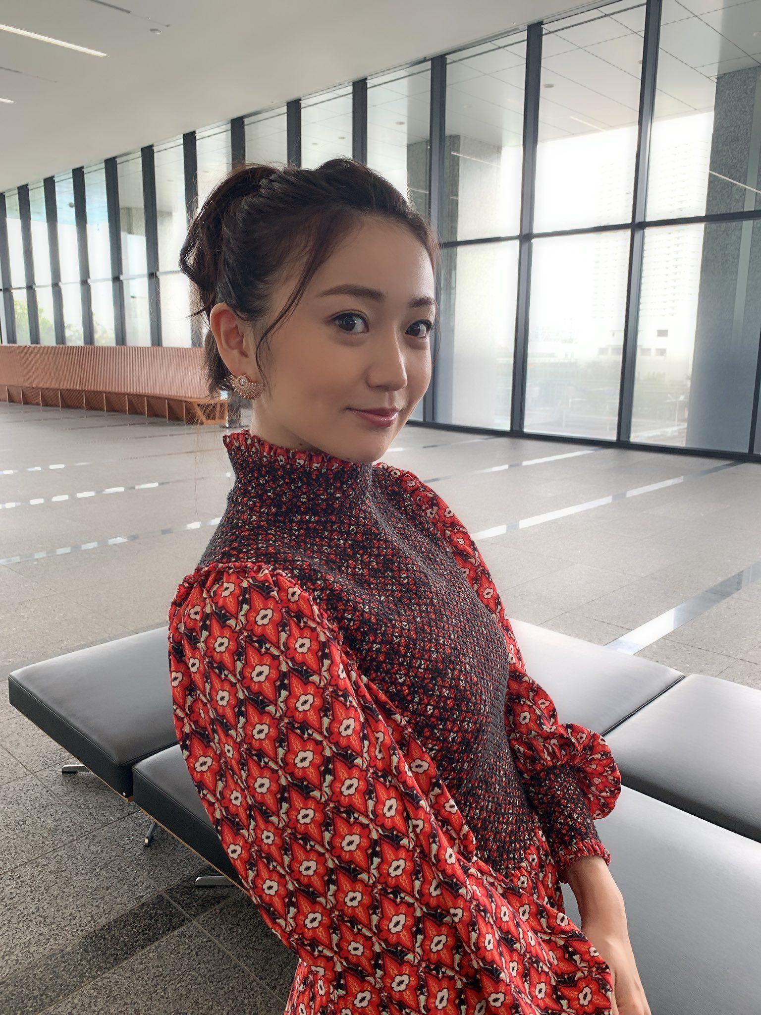 大島優子 on twitter fashion high neck dress brunette