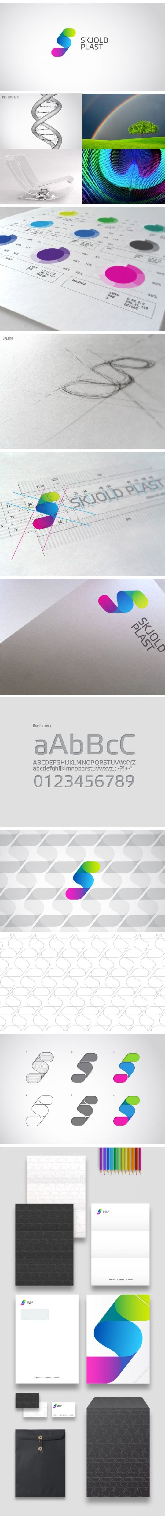 Logo and stationary for a Plast Product Manufactor