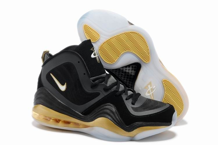 2013 For Sale Air Penny Hardaway 5 V Mens Shoes Discount Black Yellow White