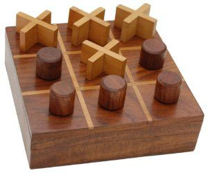 Amazoncom Wooden Tic Tac Toe Game Noughts And Crosses