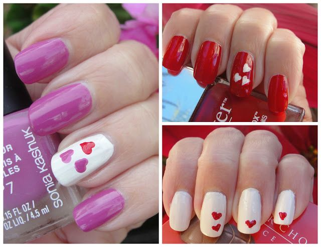 3 SWEET VALENTINE´S DAY NAILDESIGNS & HOW TO DRAW HEARTS! | Beauty4Free2U