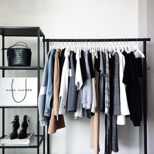 Portant Noir Et Blanc Maison Meuble Rangement Chambre