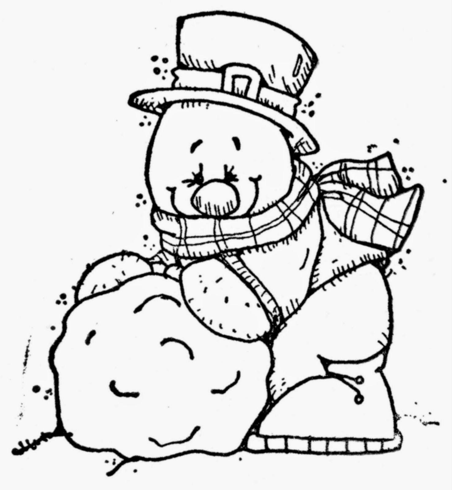 Lindas Imágenes de Muñecos de Nieve para Colorear. | hivern ...