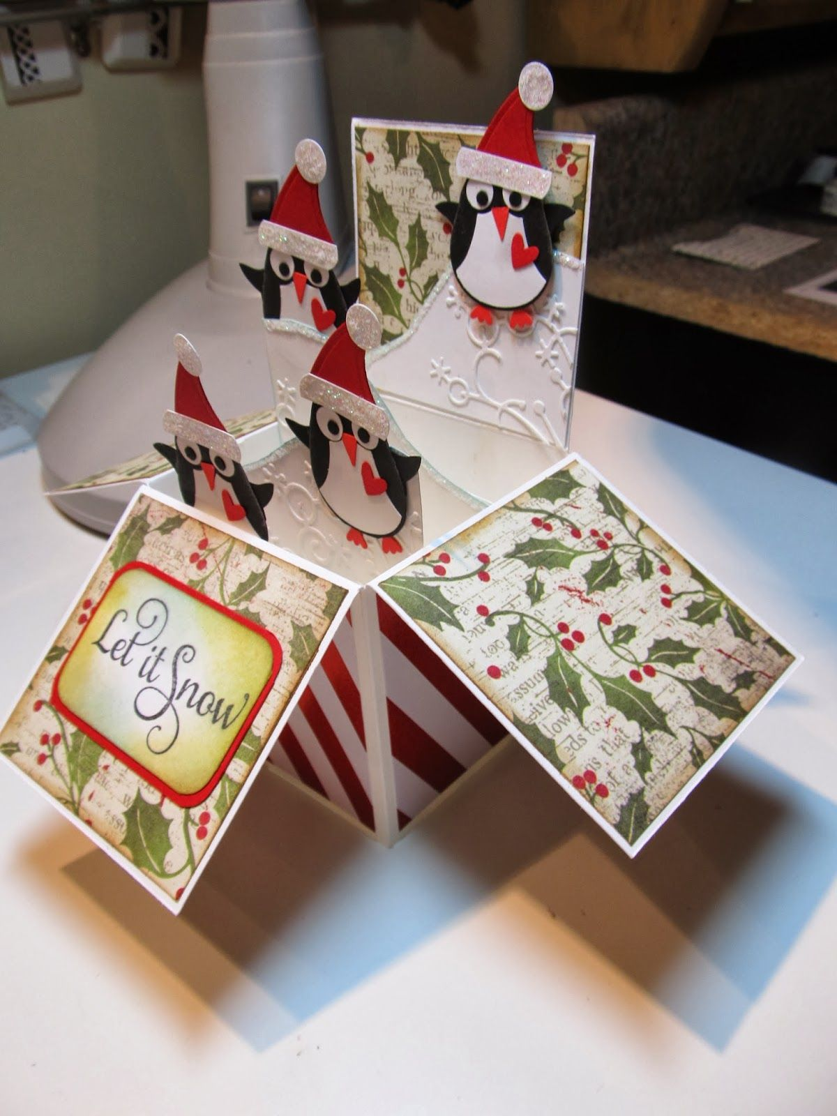Card in a box boxed christmas cards pop up box cards