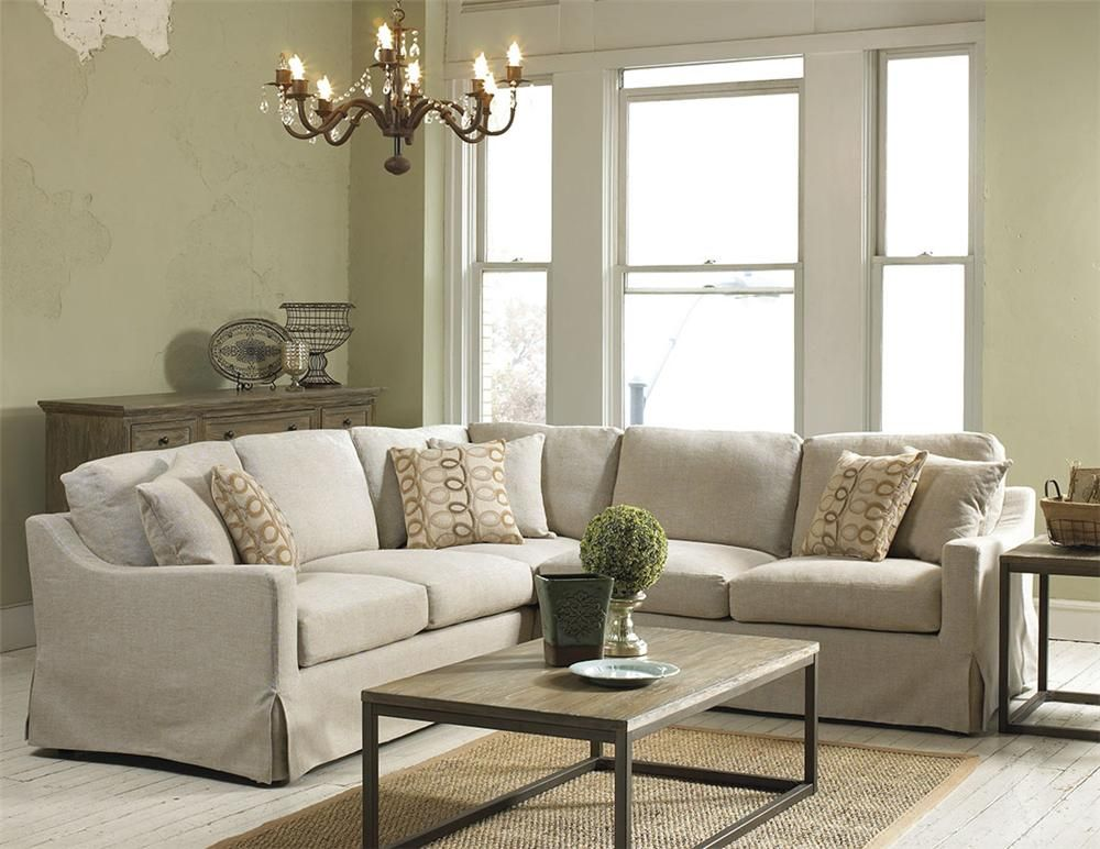 Linen Sofa With Chaise