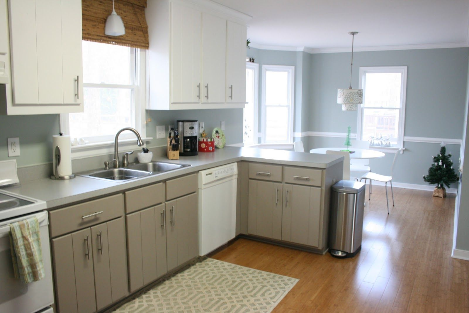 blue gray kitchen walls | blue kitchen | kitchen color | pinterest