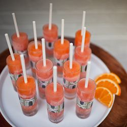 Adult-only citrus popsicles with Aperol!