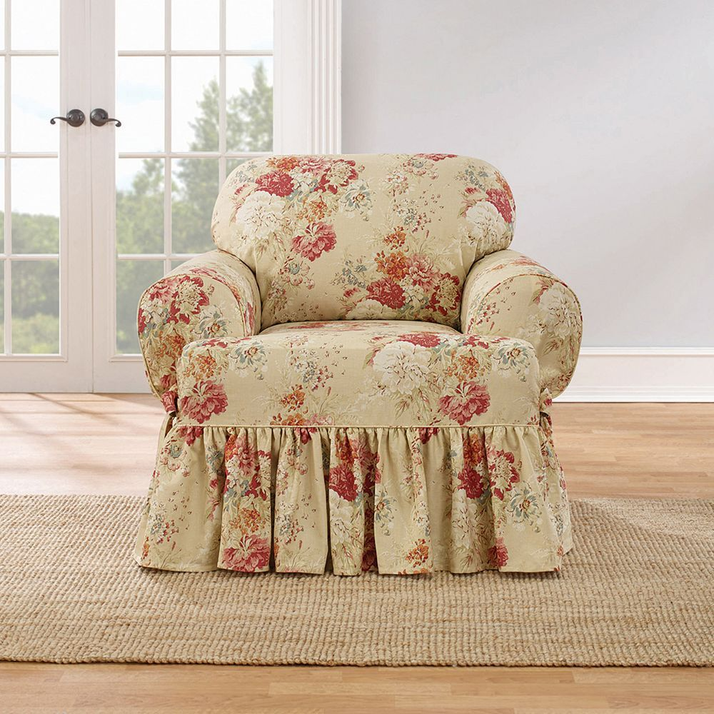 Pleasant Sure Fit Waverly Ballad Bouquet T Chair Slipcover Products Download Free Architecture Designs Scobabritishbridgeorg