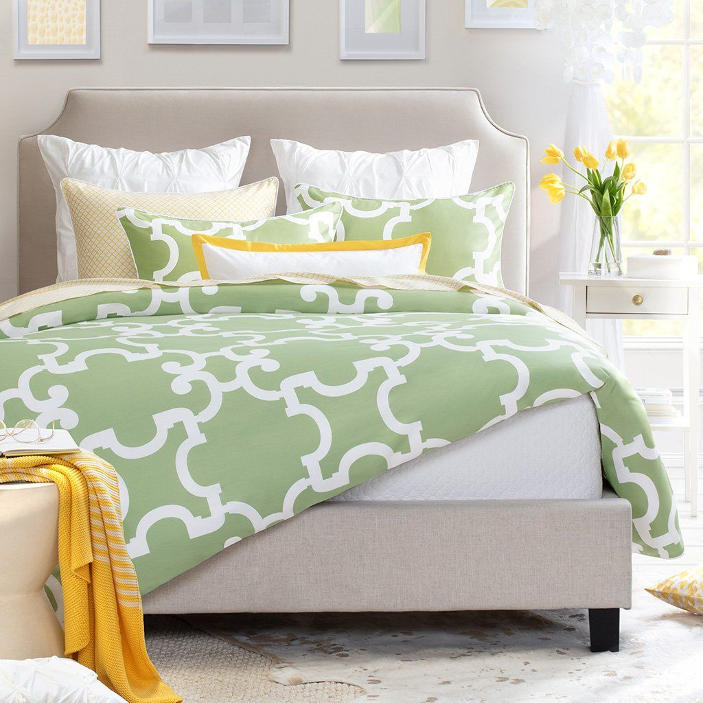Bedroom inspiration and bedding decor The Noe Green