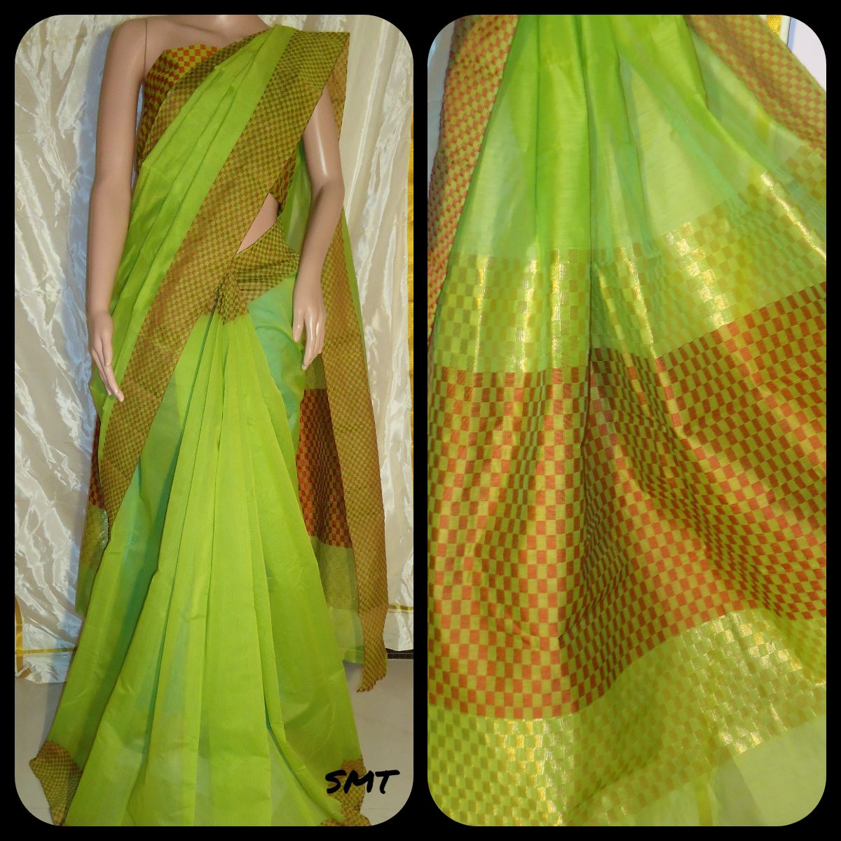 c1509362c55fc Cora cotton Saree with Jacquard blouse