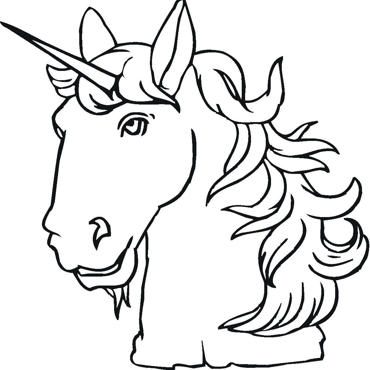 Unicorn Color Pages for Children | Activity Shelter | Mythical ...