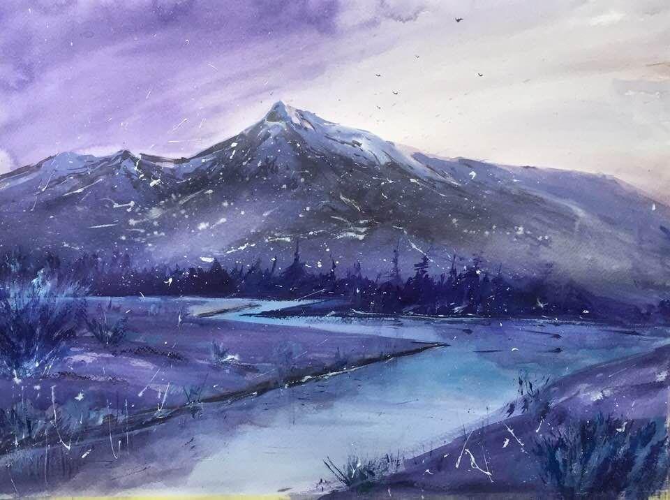 Krivan watercolor 48x 36cm digital art fantasy