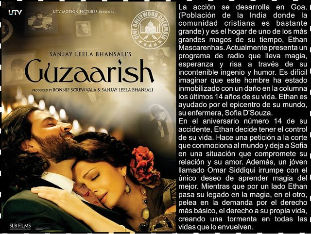Cine Bollywood Colombia: GUZAARISH