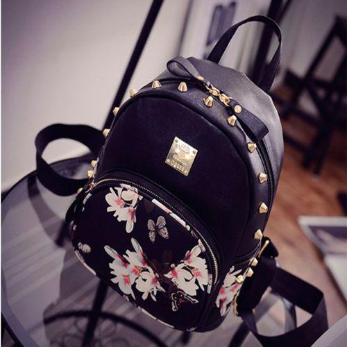 Shoulder Bag Purse Schoolbag Handbag Rucksack 3PCS Bag Women Leather Backpack