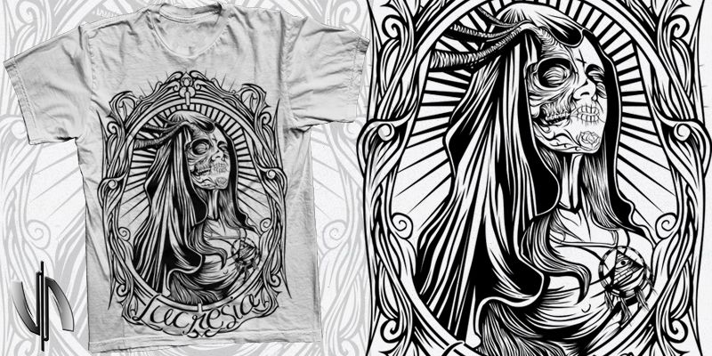 """El Muerte"" t-shirt design by vhart24"