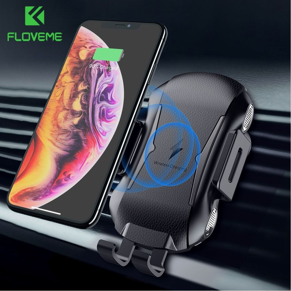 FLOVEME Car Qi Wireless Charger For Samsung S10 S9, Fast