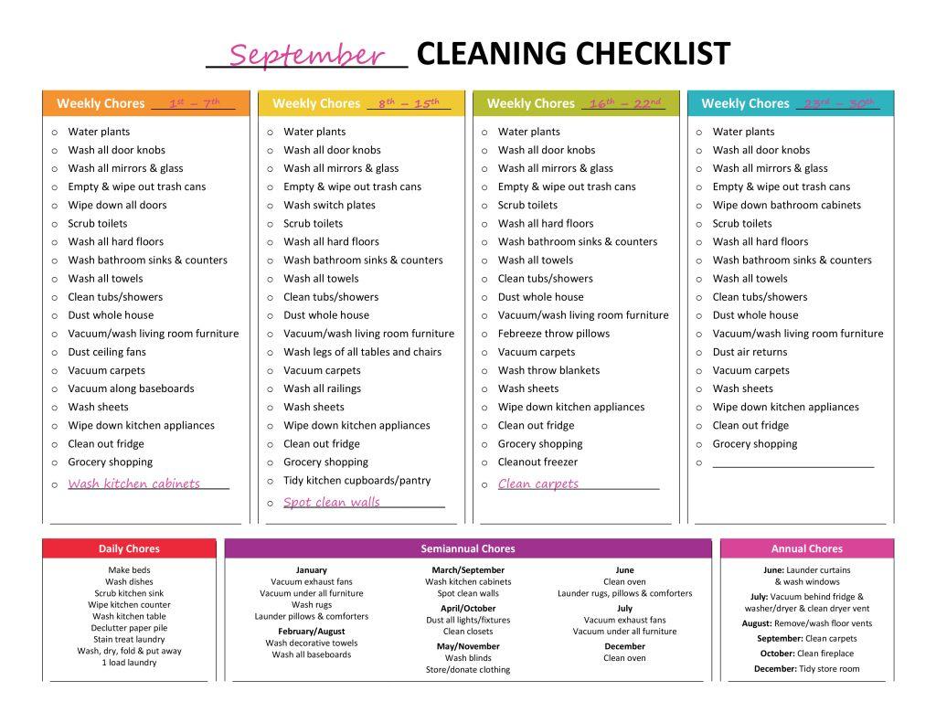 Complete Housekeeping Printable Set