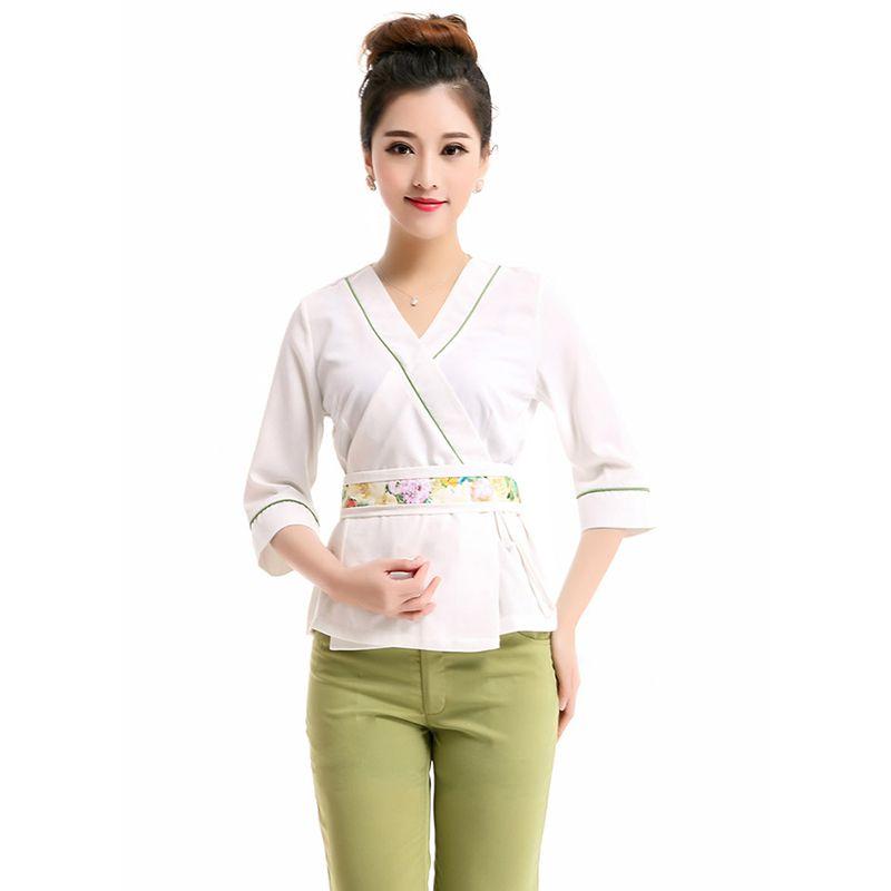 2015 del verano del estilo moda impreso mujeres tailandia masaje Tender  enfermería médico uniforme para mujeres hospital traje trajes(China  (Mainland)) 38e33de28da7