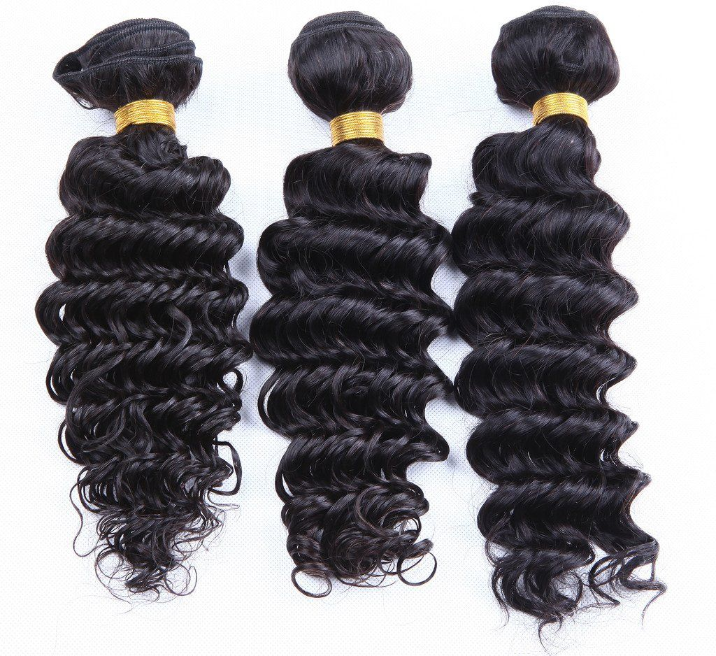3 Bundles Lot 7a Malaysian Curly Virgin Hair Deep Wave 100