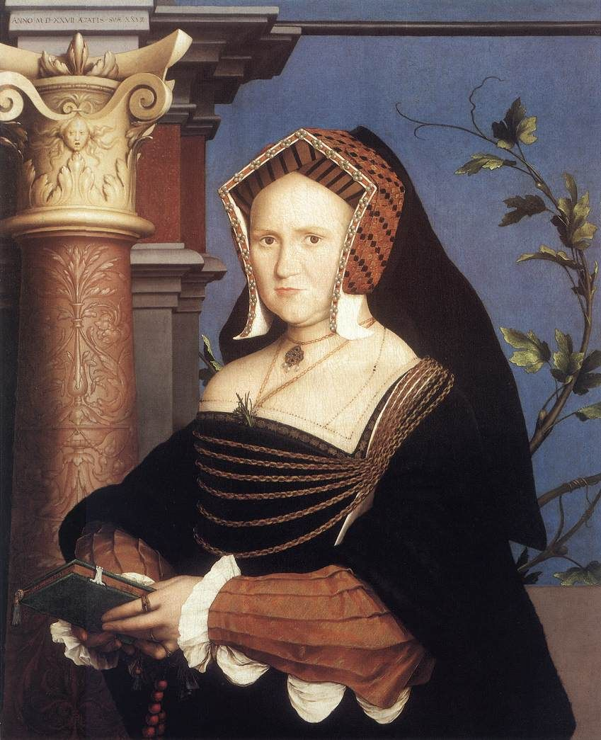 Portrait of Lady Mary Guildford by Hans Holbein the Younger, 1527