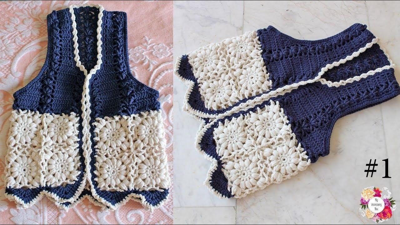 Boho gypsy vest crochet tutorial part 1