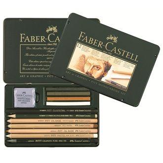 Faber Castell Set Pitt Monochrome 12er Metalletui 112960 24 95
