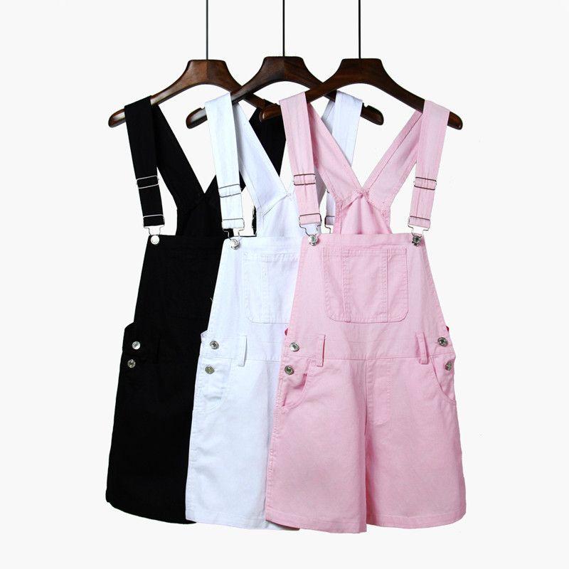 dde55337f93 Sweet students denim straps shorts SE8300
