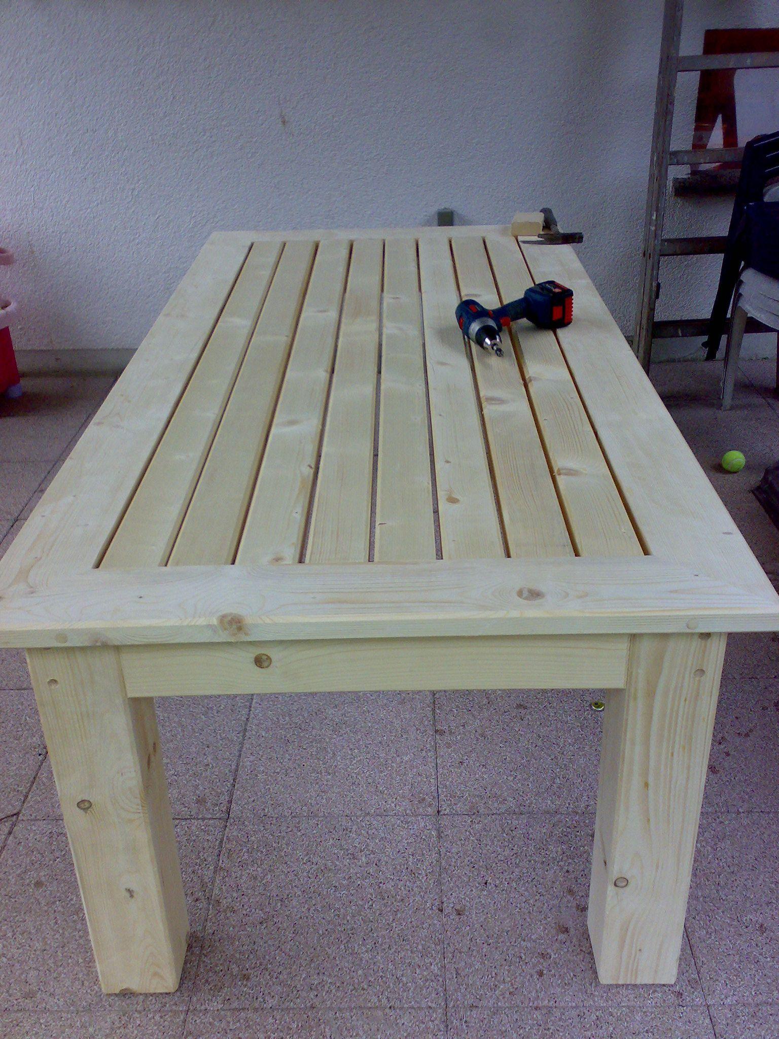 Terassentisch Aus Massiver Fichte Holztisch Selber Bauen Selber Bauen Garten Gartentisch Selber Bauen