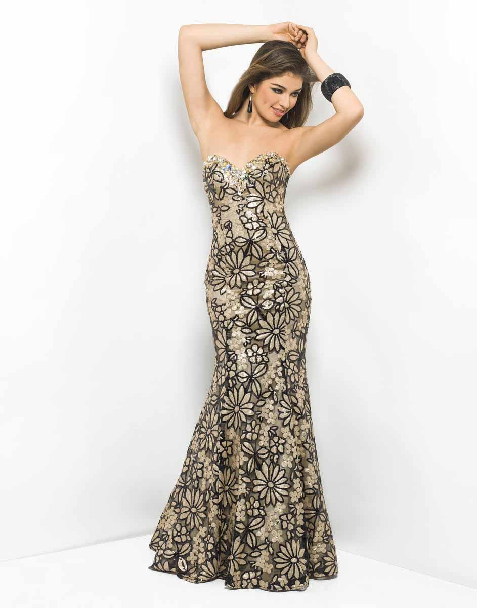 Blush Prom 9524 - Gold elegance in a sexy prom dress! Pure drama as ...