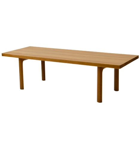 Extra Long Coffee Table In Teak And Oak Antique Vintage