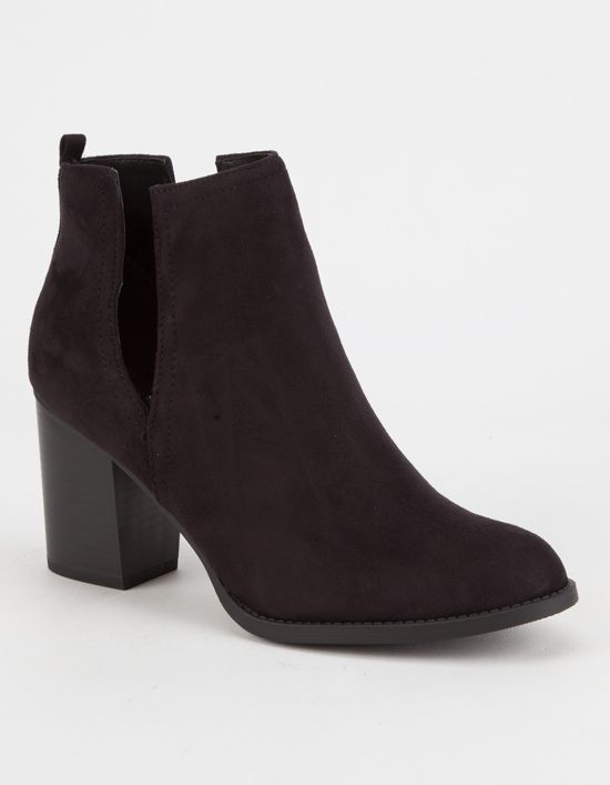 379286b590 SODA Faux Suede Side Slit Womens Booties | Clothing | Boots, Ankle ...