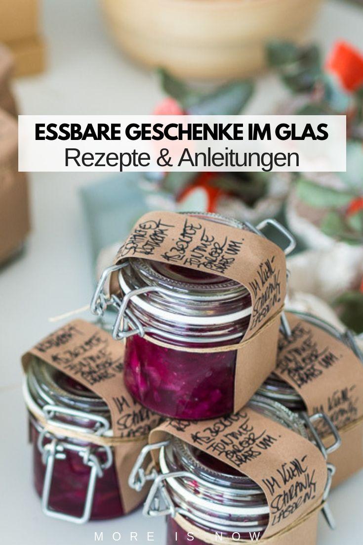 Essbare Geschenke im Glas