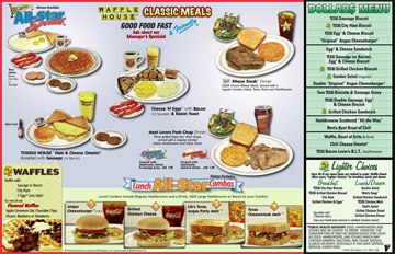 The Waffle House Menu Waffle House Menu Waffle House Food Picks